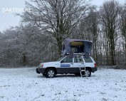 Winter camping roof tent