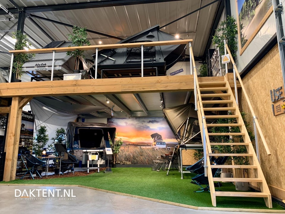 Roof top tent experience center
